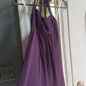 Youth brides maid dress plum purple